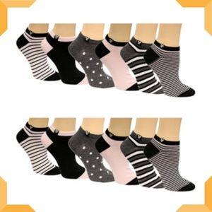 Disney Mickey Mouse Stripes No-Show Socks 12 Pack